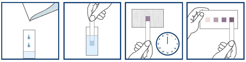 Индикаторные полоски. Схема анализа